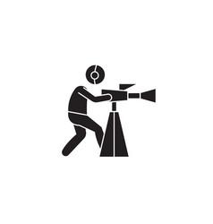video shooting black concept icon video vector image