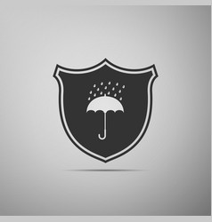 Waterproof icon isolated on grey background vector