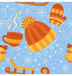 Winter seamless pattern vector image