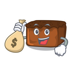 With money bag brownies character cartoon style vector