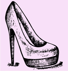 Womens high heels shoe vector image