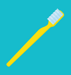 yellow toothbrush simple vector image