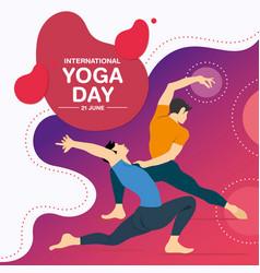 Yoga day 12062114-2 vector