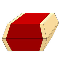 burger box or packing object of fast food vector image