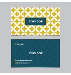 business card pattern yellow 03 vector image vector image