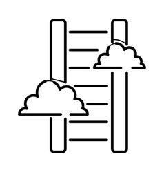 Career stair thin icon isolated line black color vector image