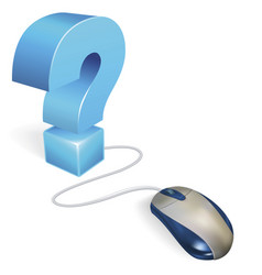 Computer mouse and question mark concept vector