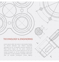Engineering concept with part of machinery vector image