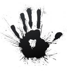 handprint splatter blow vector image vector image