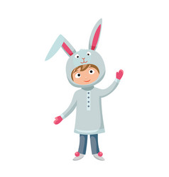 kid rabbit costume festival superhero character vector image vector image