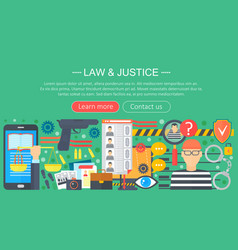 law and justice design concept with prisoner and vector image