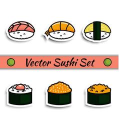sushi set isolated vector image