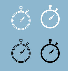the stopwatch the black and white color icon vector image vector image