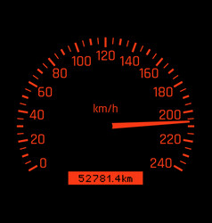 car speedometer dial high speed concept vector image vector image