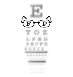 eye test vector image