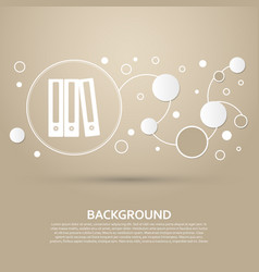 folder icon on a brown background with elegant vector image vector image