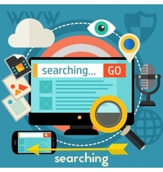 Searching Concept vector image vector image