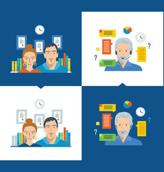 team and teamwork working place online training vector image