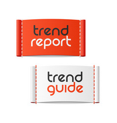 trend report and trend guide clothing labels vector image