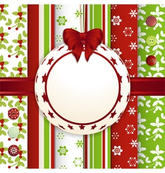 Christmas scrap book bauble background vector image