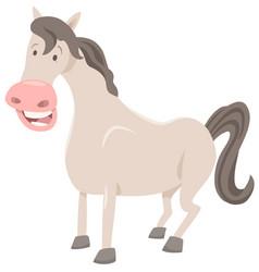 funny horse farm animal vector image vector image