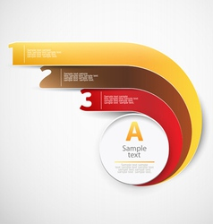 Modern design chart vector image