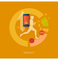 Quanitified self activity and sport mobile vector