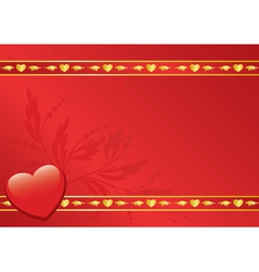 red card with golden decor vector image vector image