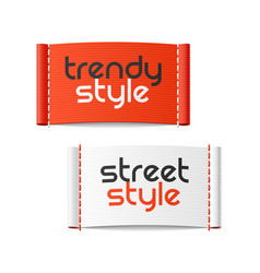 trendy style and street style clothing labels vector image