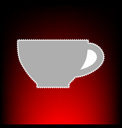cup style on red vector image