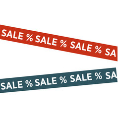 tapes with sale words vector image vector image