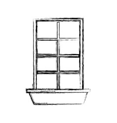 windows house style isolated icon vector image