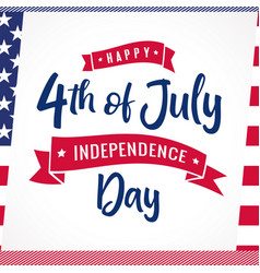 4th july striped card usa vector image