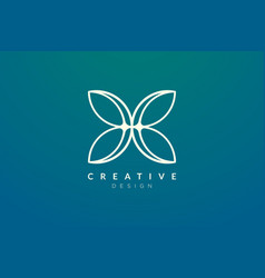 Abstract flower and leaf logo design simple vector