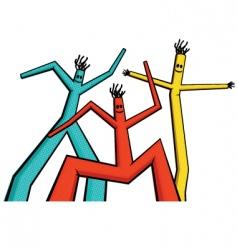 air dancers vector image