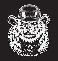 animal wearing aviator helmet with glasses vector image