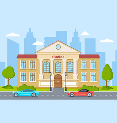 bank building government house financial office vector image