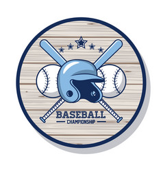 Baseball championship card vector