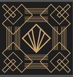 black background art deco frames vector image