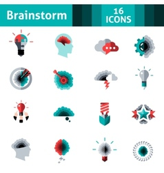 Brainstorm Icons Set vector image