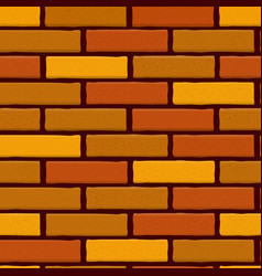 Brick wall seamless background vector