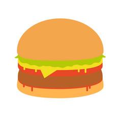 burger sandwich food icon burger vector image