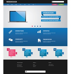 Business website template vector