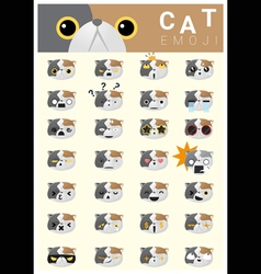 Cat emoji icons vector