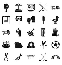 Children game icons set simple style vector