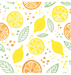 citrus colorful seamless pattern vector image