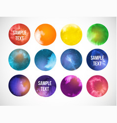 colored circles with space backgrounds hand drawn vector image