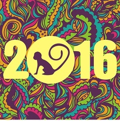 colorful postcard for new year vector image
