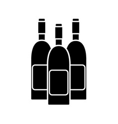 Contour wine bottles taste beverage vector