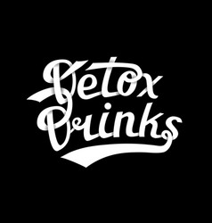 detox drinks logo white vector image